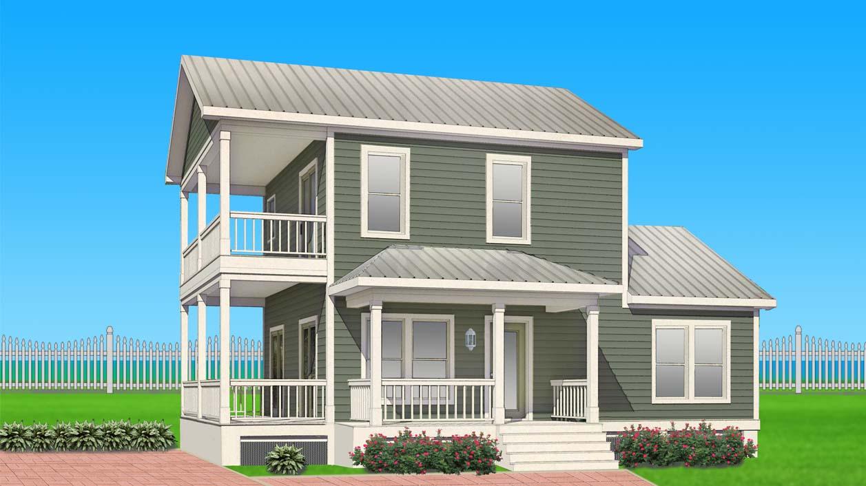 The Snapper Modular Home Floor Plan Rendering