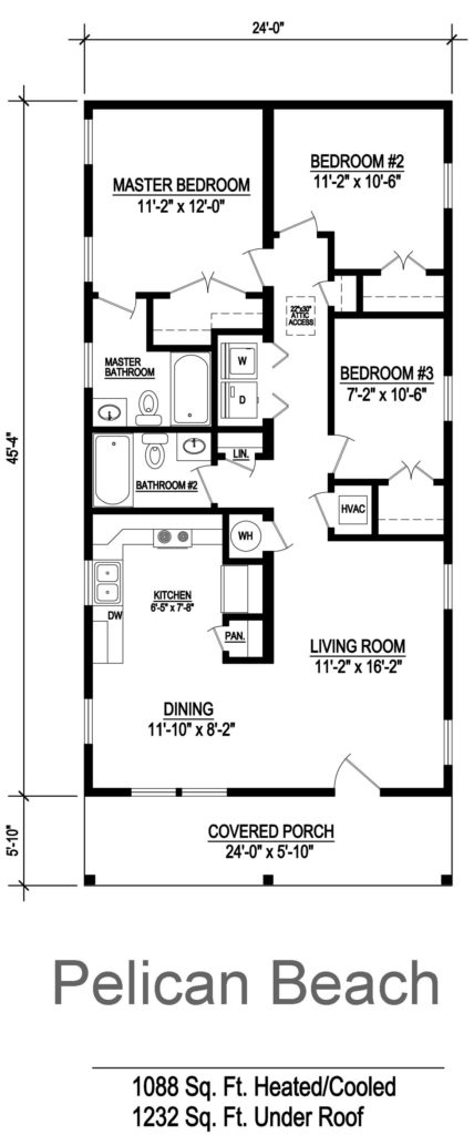 Pelican Beach Modular Home Floor Plan