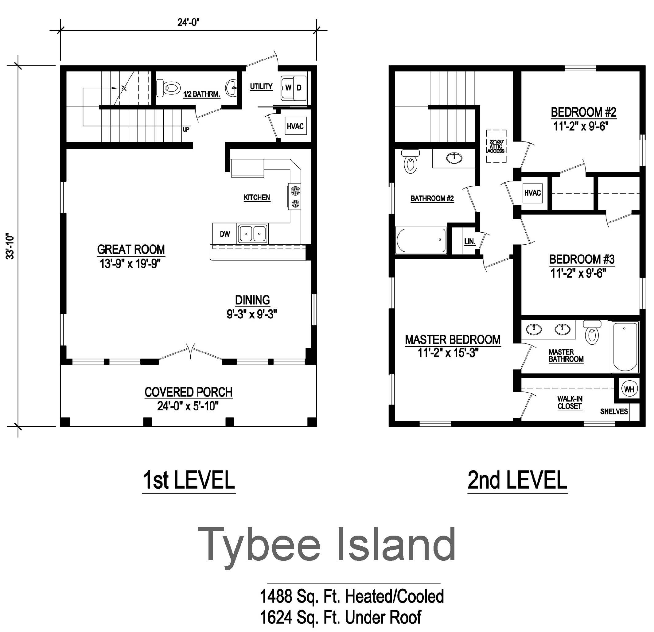Tybee Island Modular Home Floor Plan